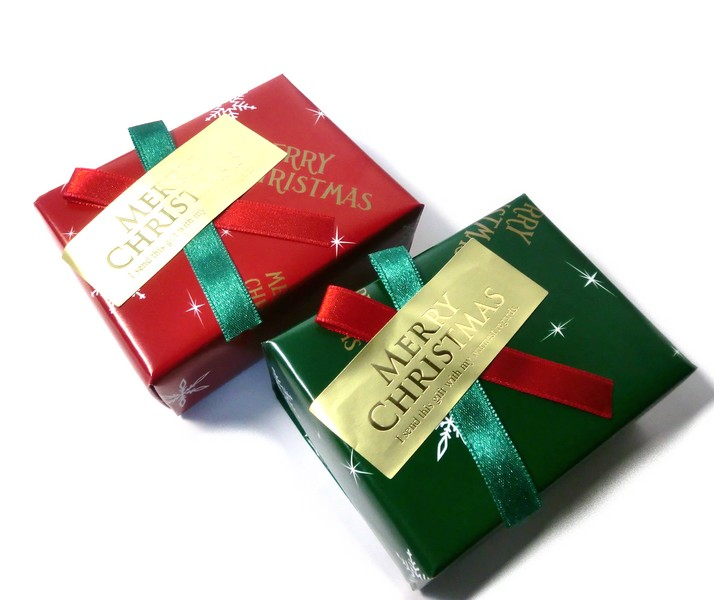 クリスマスプレゼント用ラッピング-3