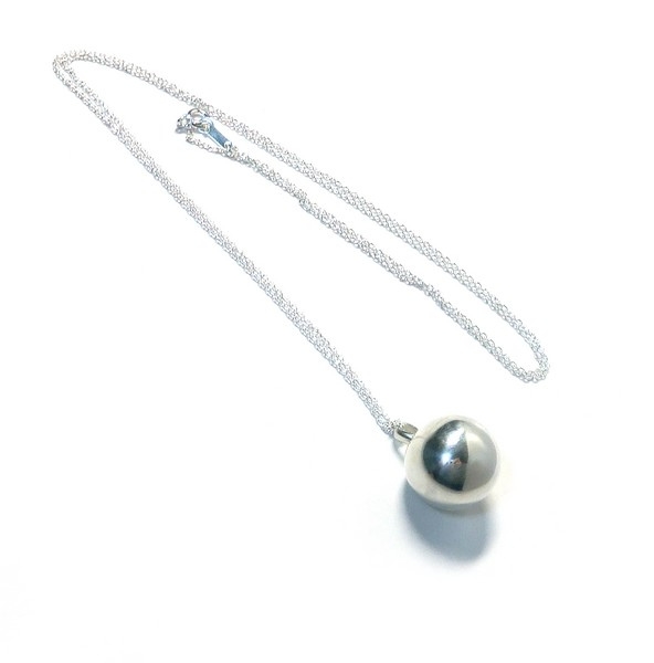 オーダーメイドシルバーアクセサリー/球状のシンプルなネックレス