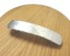 手作りシルバーアクセサリー/槌目模様のシルバーバレッタ
