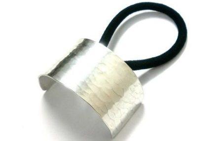 一つ結び用・槌目模様のヘアゴム