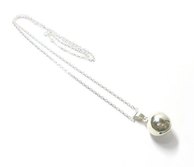 手作りシルバーアクセサリー/銀の鈴のネックレス銀の鈴のネックレス17mm