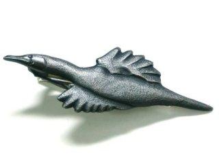 鳥のシルバーネクタイピン