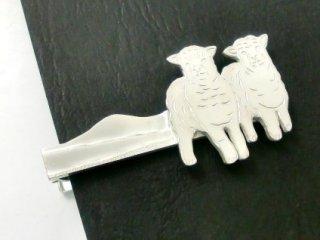 羊のシルバーネクタイピン