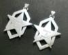 オーダーメイドシルバーアクセサリー/星と六角形のペアペンダントトップ