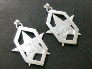 星と六角形のペアペンダントトップ