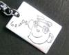 子供の絵のプレート形キーホルダー