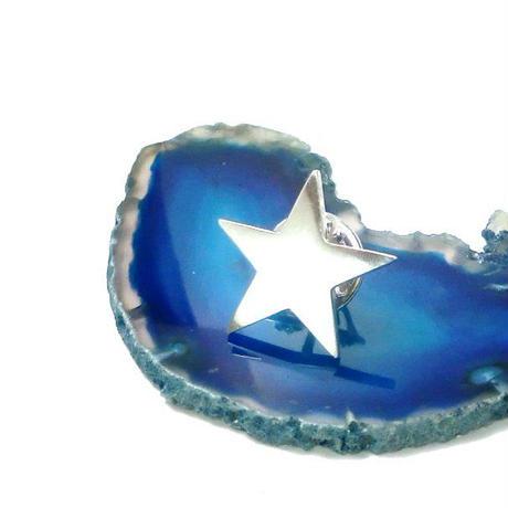 星型シルバーピンブローチ