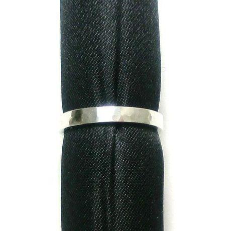 槌目模様のシルバーリング 3mm幅
