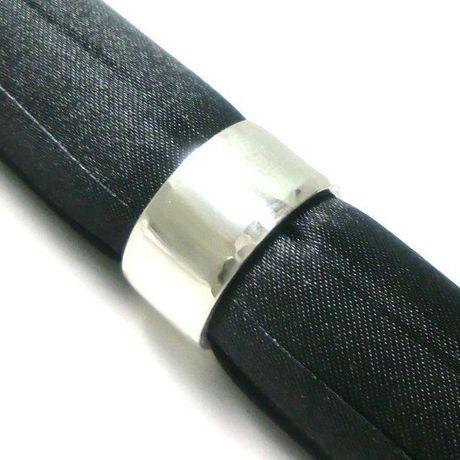 手作りシルバーアクセサリー/槌目模様平打ちシルバーリング